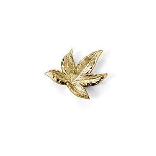 Brass Maple Leaf chopstick holder