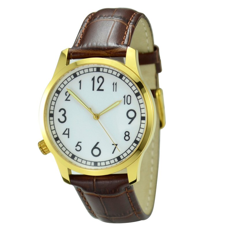 Backwards Watch Gold Case Big Size Free shipping worldwide