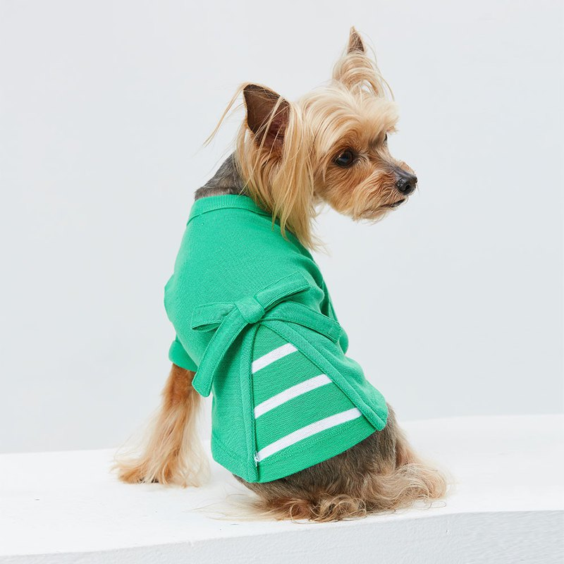 Casual wind side strap pet clothing