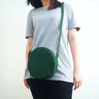 Forest Department Matcha three brothers' small round bag - dark green