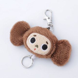 Large ears cloth zipper retractable key ring