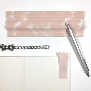 Sakura (pink concrete). Concrete pen tray with wave top in pink background