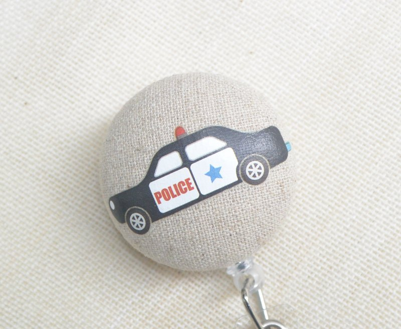 Telescopic handle cloth buckle purse - Police Car