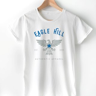 Eagle Hill-Ladies T-Shirt-White Color,Spirit Bird,Artist Tee,US Fashion,Casual T