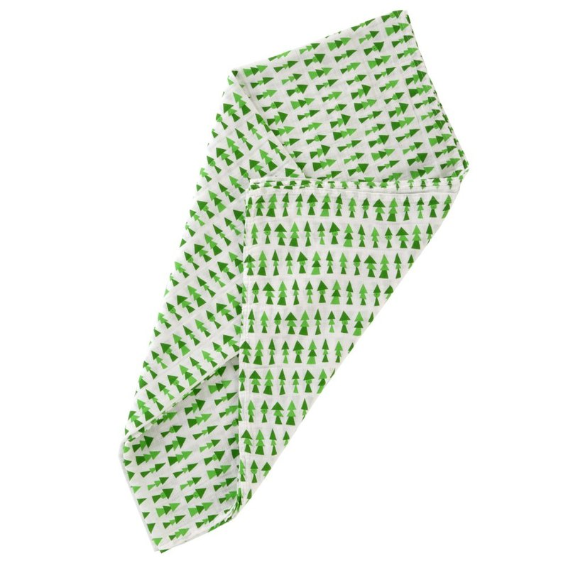 D BY DADWAY Japanese Made Gauze Towel - Green Forest