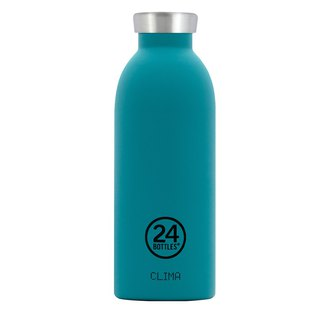 New 24Bottles - Clima Bottle Atlantic Bay (500ml) - Stainless Steel Insulated Water Bottle - 24 hours for ice protection and 12 hours for insulation