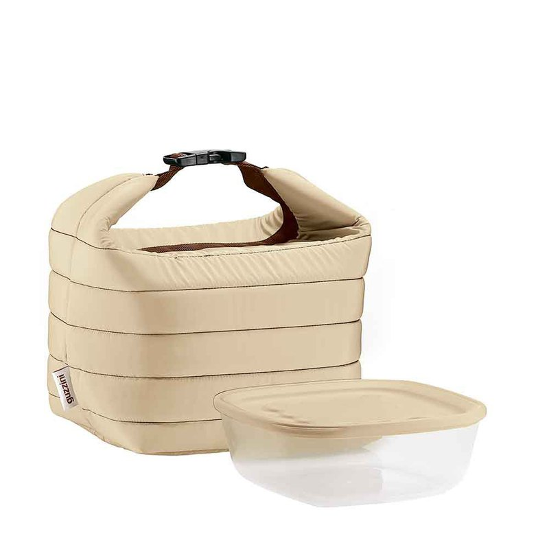 22cm野餐袋便當袋-卡其色