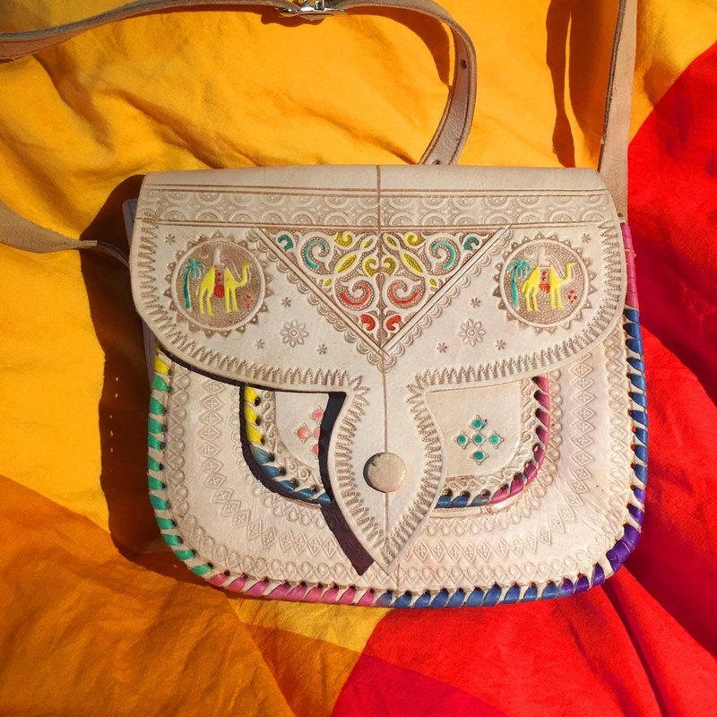 Moroccan Handmade Colored Camel Bag - Ursazat