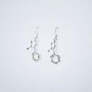 [Chemical Beauty] Cigarette Nicotine Silver Earrings