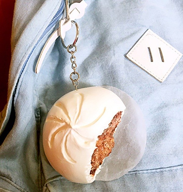 Meat buns key ring can change the magnet / earring size can be customized full 600 random gift
