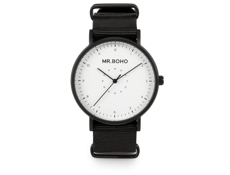 Spain Mr.Boho design watch watch CASUAL simple white / calm black
