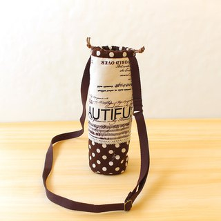English word splicing beam bottle bag / cross-body bag