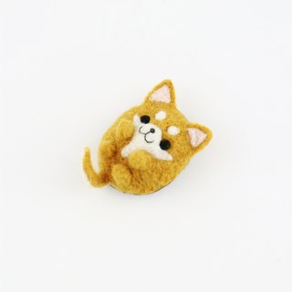 Animal's Party – shibainu dog wool felting brooch