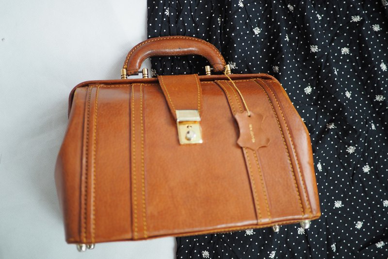 Vintage handmade leather doctor bag