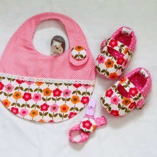 Hua Xie flower pocket + + pacifier clip births ceremony. Full moon ceremony