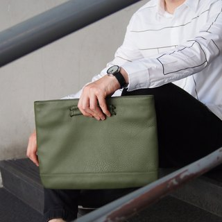 Kent Leather Clutch in Avocado Color