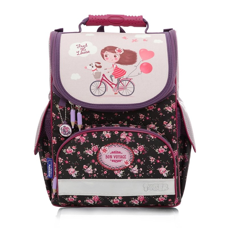 Tiger Family Small Aristocratic Ultra Lightweight Ridge Bag + Stationery Bag + Pencil Case - Bicycle Girl