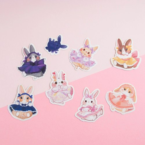 Dress Bunny * Sticker pack