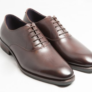 Hand-painted calfskin wood with plain Oxford shoes shoes men's shoes - brown - free shipping - E1A17-89