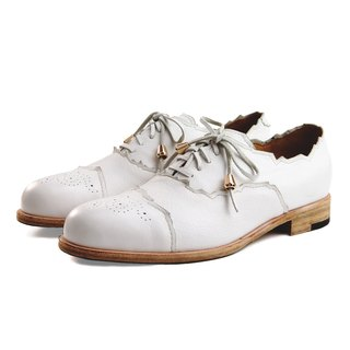 Arthur M1168 White leather oxford shoes