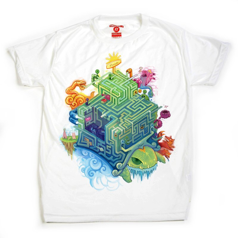 Maze Turtle unisex men woman cotton mix Chapter One T-shirt