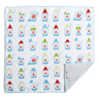 【IMA】WAFUKA Japan made Absorben, Soft, Cute & Unique Handkerchief - Fuji Ice