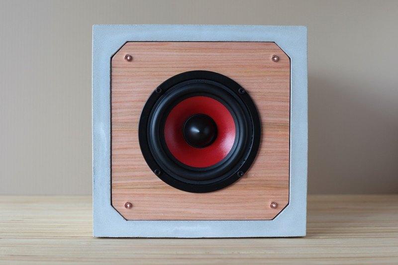 "4 ""bass passive square cement speaker"