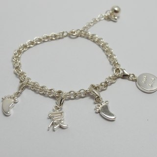 Zo.craft baby custom name small bracelet / 925 sterling silver