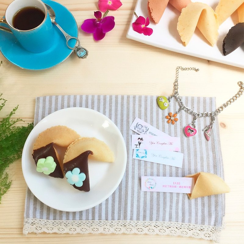 Biblio Wedding Mystery Customized Fortune Cake Black Chocolate Fortune Biscuits Handmade Cookies Marshmallows