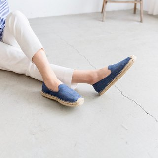 Japanese cloth handmade straw shoes - cowboy