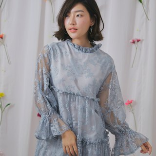 Vivian lace dress (sky blue)
