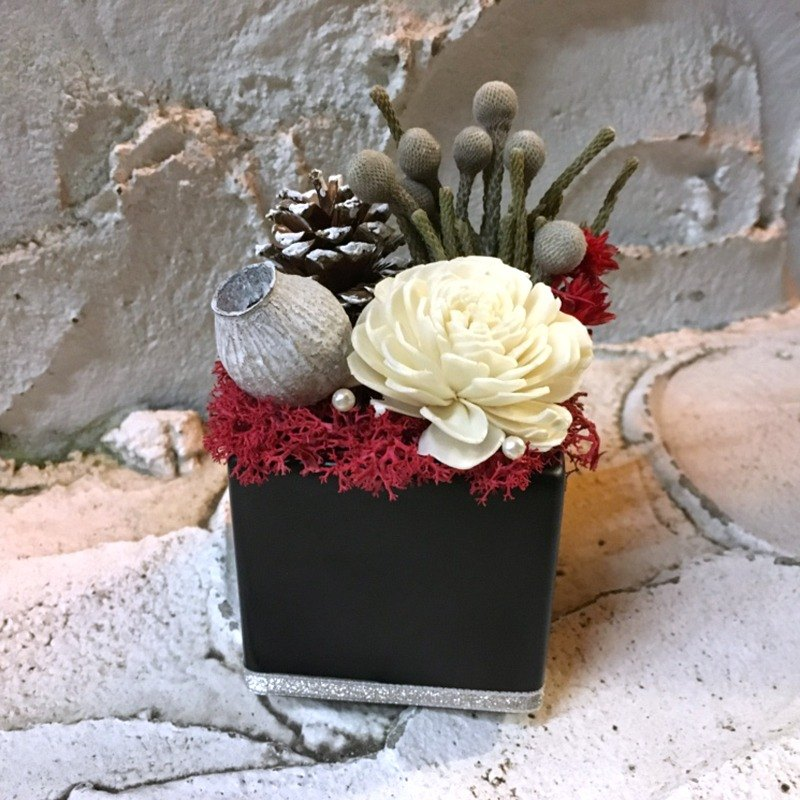 Flower mound | coral - X'mas texture of dried flowers table flowers fragrant gift exchange expansion
