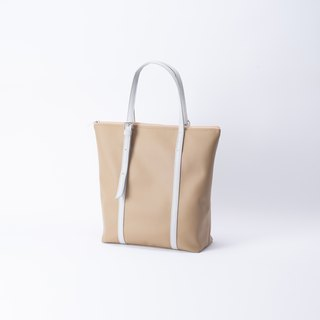 New product A4 dual-use tote bag camel X gray