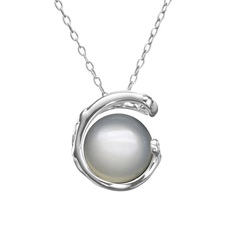 Moonstone Sterling Silver Necklace, White color Birthstone Jewelry,