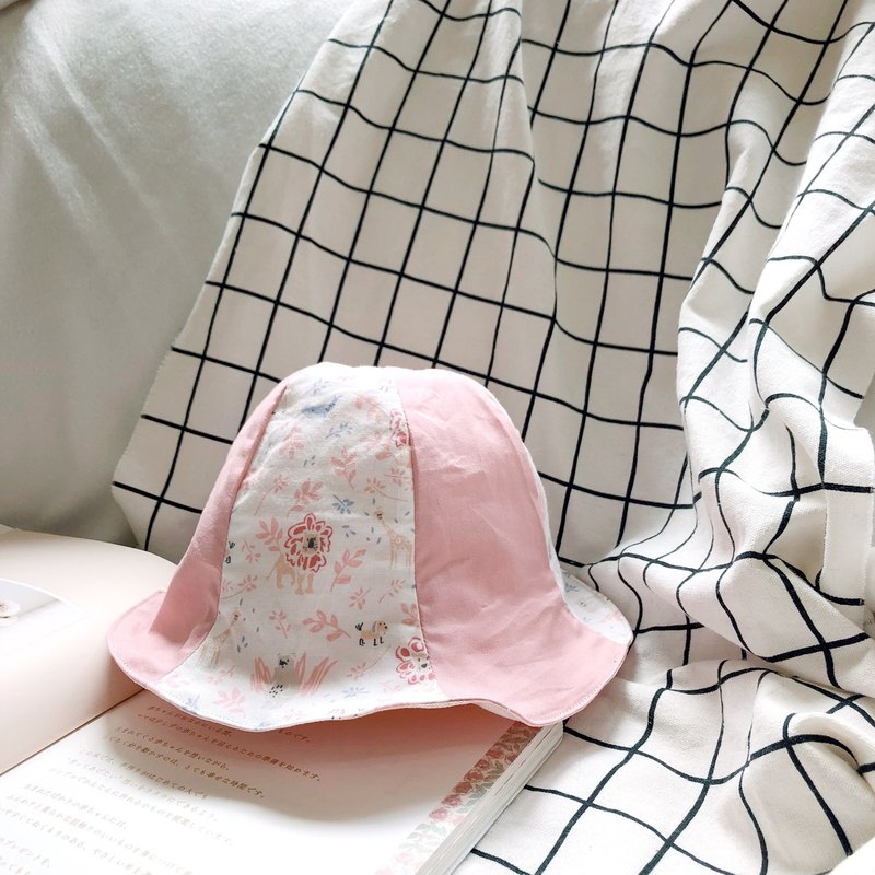 Pink Lion King Korean Organic Cotton Baby Handmade Shade Fisherman Hat