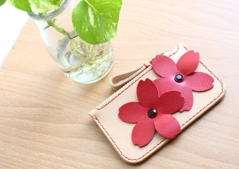 Handmade natueal lwather coin purse