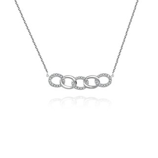 Chain Shape Diamond Necklace