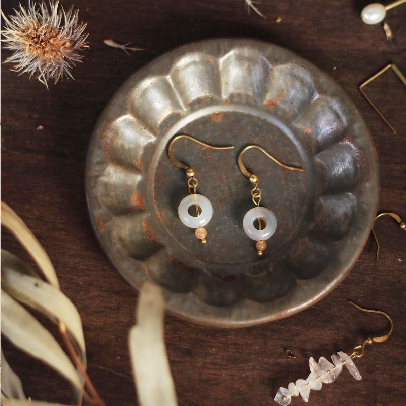 Natural stone classical earrings series - always here