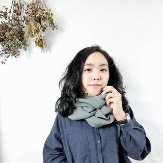 【Green Texture】 Scarf Scarlet Exchange Gift