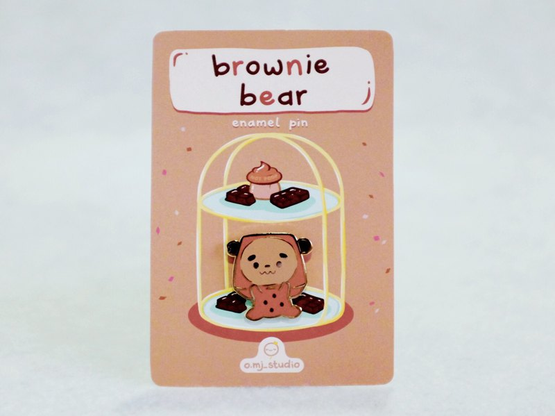 Brownie Bear Enamel Pin | Cute Lapel Pin