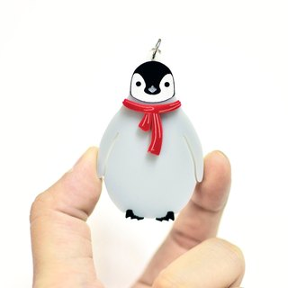 Baby Penguin - Christmas - Necklace - Key Ring