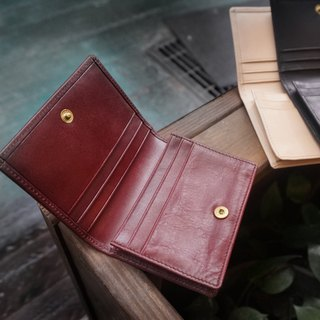 Sienna Business Leather Classic Business Card Simple Wallet (dark red)