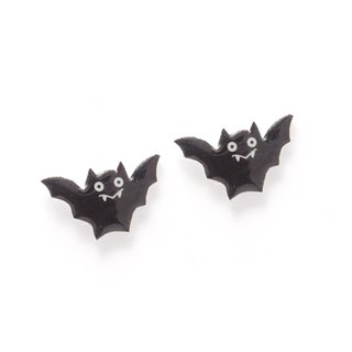Fox Garden Handmade Halloween Series: Bat Earrings / Ear Clips / Stud Earrings Party Must Ship without Transparent Ear Clips