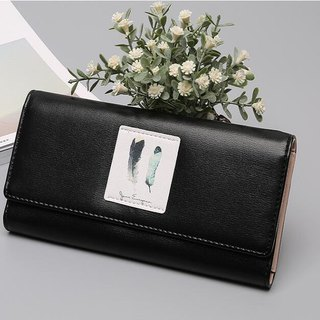 [limited time discount] small fresh girl large-capacity wallet / long clip / wallet / cell phone bag / black