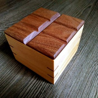 """Block"" -- Handmade log small storage box"
