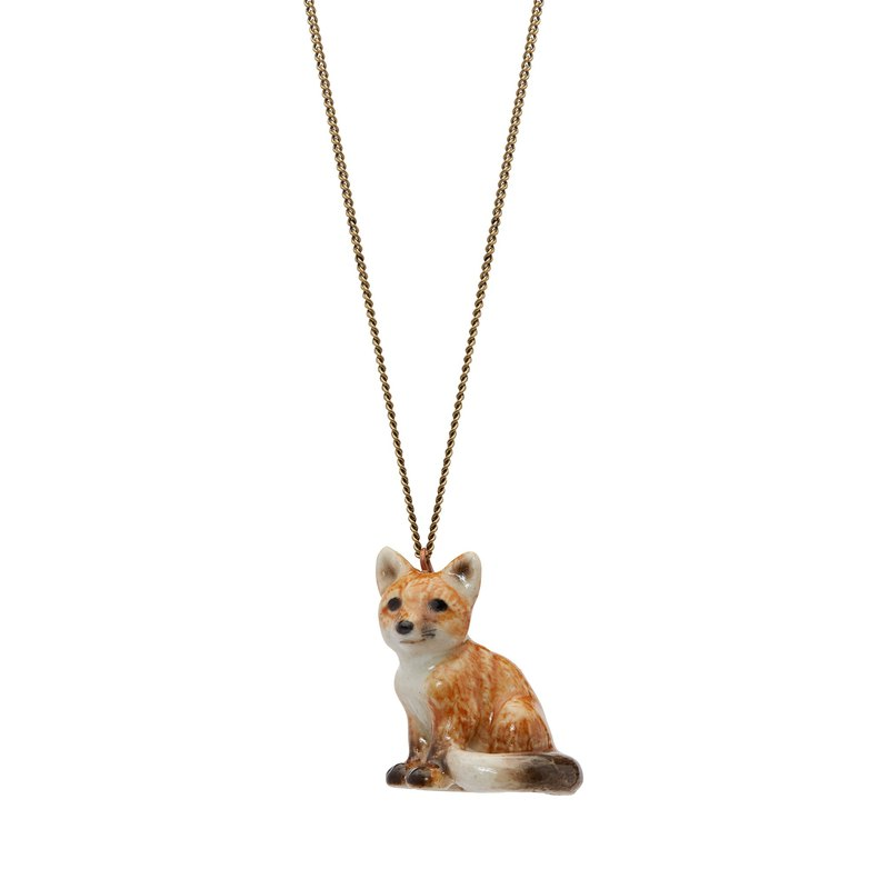 "And Mary Sitting Fox Necklace | 24""/28"" 