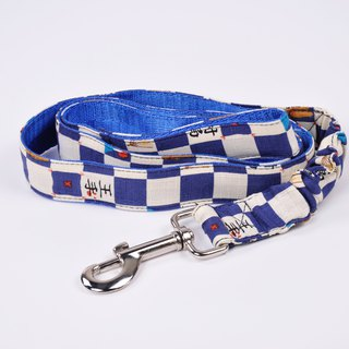 Dog leash, rope, elastic, rope, checkerboard, road pattern