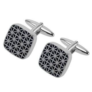Double-Cross Dark Blue Enamel Cufflinks