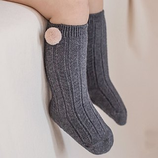 Happy Prince Korean Laura hair ball baby knee socks baby socks children socks