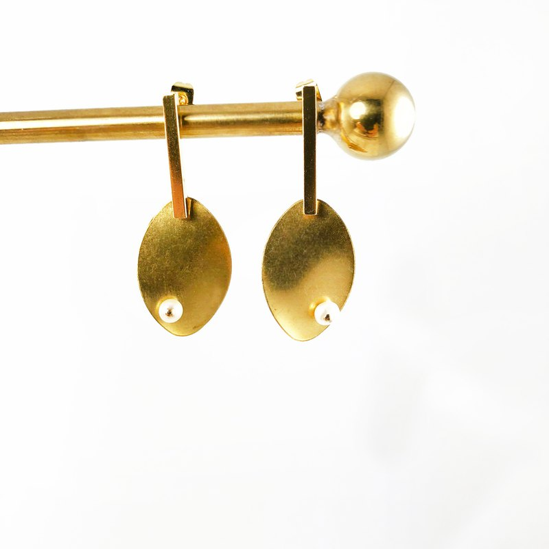 Minimalism - 925 Silver Gold Plated Earrings 【Christmas Gift】【brass earrings】